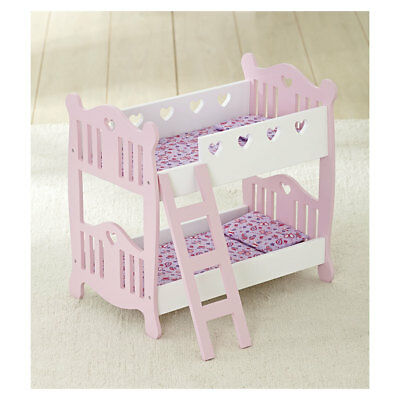 You & Me Wooden Doll Bunk Bed - NEW