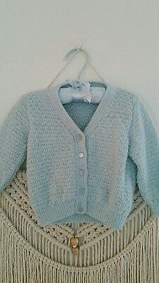 Baby boy or girl woollen jumper wool cardigan 6mths