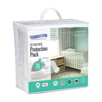 Protectabed Cot Mattress Protector Kit - NEW