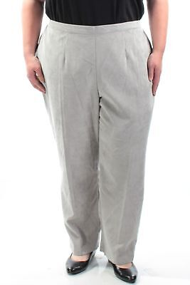 ALFRED DUNNER Womens New Silver Straight Leg Casual Pants Plus 22 B+B