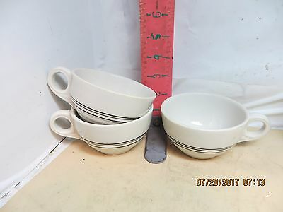 Iroquois China Ripple Ware Restaurant Cups - Coded E-3 , March ,1945 - No Damage