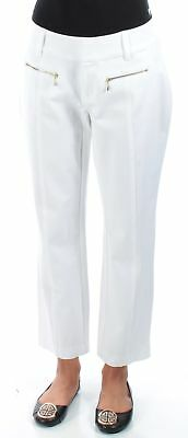 INC $70 Womens New 1397 White Curvy Fit Cropped Casual Pants 4 B+B