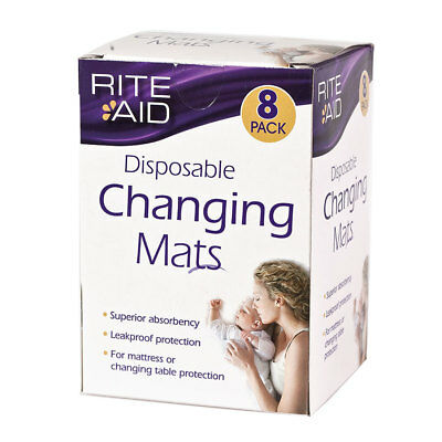 Rite Aid Disposable Changing Mats - NEW