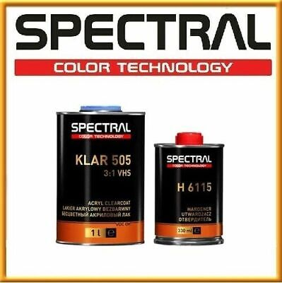 Spectral 505 Fast Acrylic Clearcoat 2K 3:1 High Gloss VHS 1.33L KIT Spot Repair