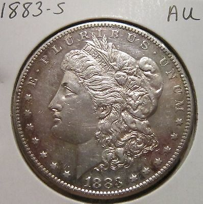 1883-S Morgan Silver Dollar Au Rare High Grade Key Date Us Silver Coin