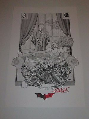 2017 SDCC JOKER & HARLEY QUINN ART PRINT SIGNED BY FRANK CHO  11x17