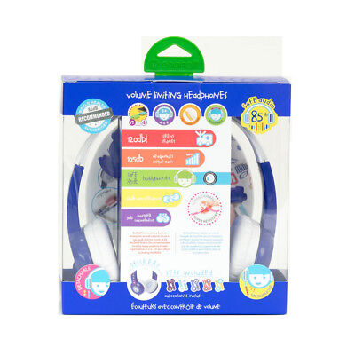 BuddyPhones Explore Kid Safe Headphone - Blue - NEW