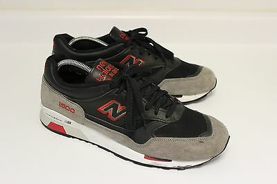 New Balance 1500 Mens M1500Gyb Black Gray Red Running Sneakers Sz 10