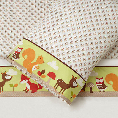 Skip Hop King Single 3 Piece Sheet Set - Forest Friends
