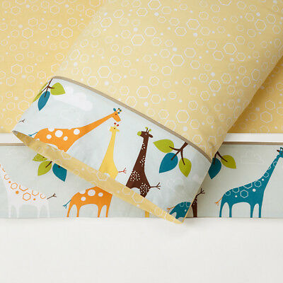 Skip Hop King Single 3 Piece Sheet Set - Giraffe Safari