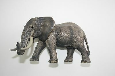 Schleich African Elephant Bull Am Limes 69 Walking Hand Painted Jungle Safari