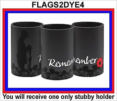 Lone digger remember poppy stubby can drink cooler + FREE Lest we forget sticker
