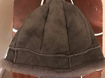 Washable Suede Beanie Hat Gray OS