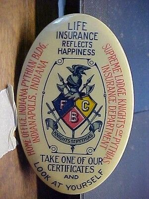 IND Indianapolis Supreme Lodge KNIGHS OF PYTHIAS Ins. Advertising Pocket Mirror