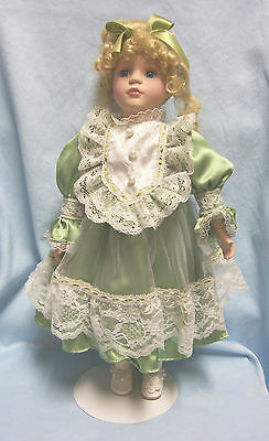 """17"""" Porcelain Collectible Doll Metal Doll stand - Collector Choices by DanDee"""
