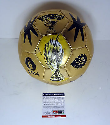 James Rodriguez Colombia 2014 Gold Boot World Cup Signed Soccer Ball Psa/dna Coa