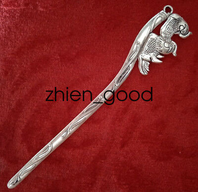 Chinese decorations Miao silver Handmade Exquisite fashion Hairpin mandarin duck