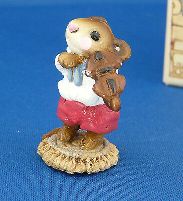 WEE FOREST FOLK M-31 MOUSE VIOLINIST  (retired) Circa 1979-1984