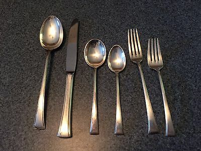 Sterling Silver Tranquility Flatware Service Set 52 Pieces