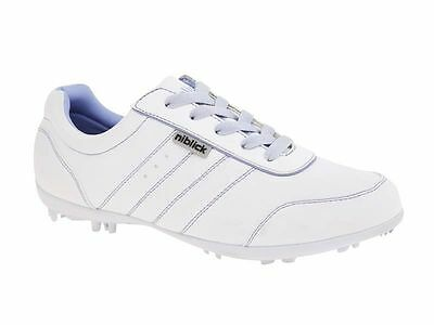 New Niblick Alice Ladies Golf Shoes Size 5Aus/6Us White/lilac
