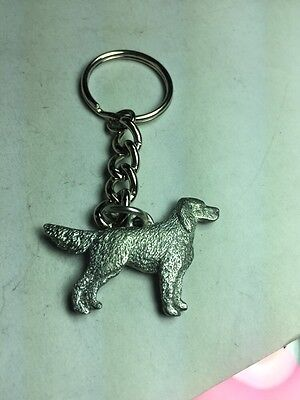 Dog Keychain, English Setter, Made Of Fine Pewter