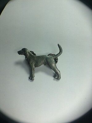Coon Hound Dog Pin Made Of Fine Pewter