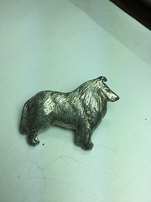 Collie Dog Pins Made Of Fine Pewter