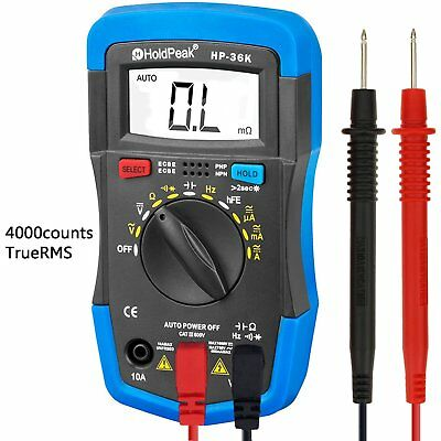 Updated Auto-Ranging Digital Multimeter Fluke Meter Volt Tester Clamp Ohm AC DC