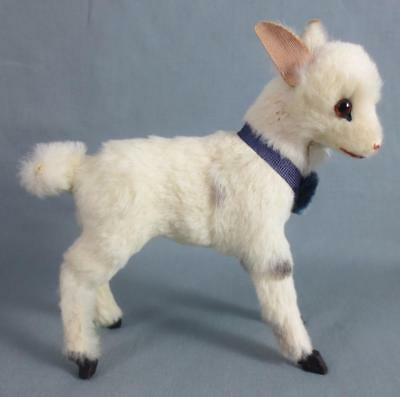 Vintage GERMAN Toy Goat Figurine with Real(?) Fur MADE IN GERMANY