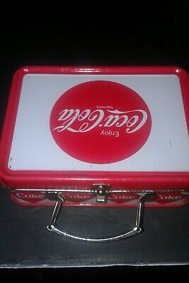 "Miniature Tin Coca-Cola Lunchbox Vintage 4"" L by 3"" W"