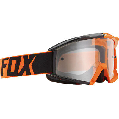 Fox Main Mx Goggles - 180 Race Orange Clear Lens