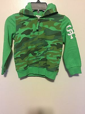 Manai Boys LS Full Zip Green (Size 3T) Hooded Sweatshirt MSRP $83 NWT Free Ship