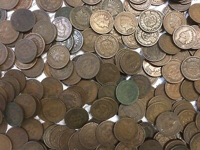 Lot Of 25 U.S. Indian Head Cent Penny - Average Circulated Condition - No Culls!