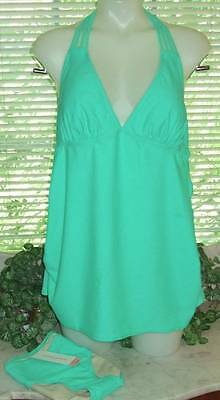 New Women's Swimwear 2 Pc. Maternity Tankini & Bottom Swim Suit Size Xlarge Jade