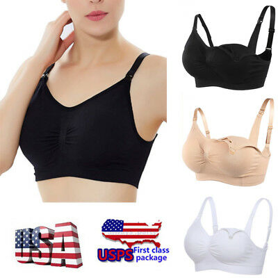 Women Feeding Nursing Pregnant Maternity Bra Breastfeeding Pregnant Top Stretchy