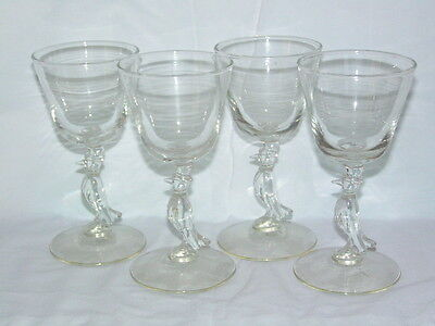 Vintage ( Set of 4 )  Libbey Glassware Old Crow Whiskey Glasses 1960's