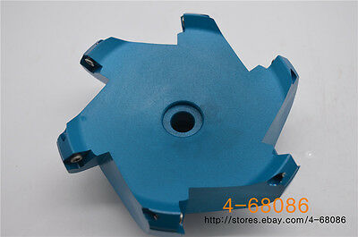 Aluminum( AL KM12 125-27-6F )indexable face milling cutter 6Flute FOR SEHT1204
