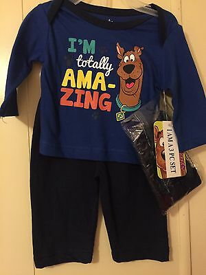 "Infant Size 0-3 M Boys Scooby Do 3-piece Set  NWT"" In Totally Amazing """