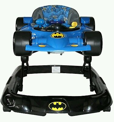 New Kids Embrace Baby Walker Batman With Play Tray Lights & Sounds 3 Heights