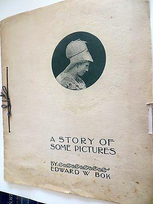 1896 Exhibition Program-A Story of Some Pictures-Edward W Bolk-Black&White Draw