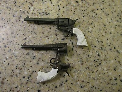 Vintage Set of  2 Miniature Antique Marx Toy Cap Pistol from the 1950s or 1960s