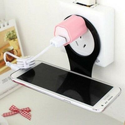 NEW Convenient Mobile fold Cell Phone Holder Wall Charger Hangs easy CP277