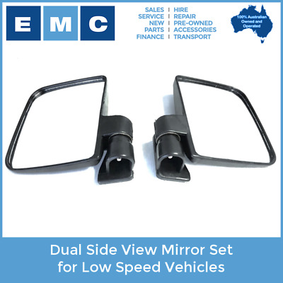 Side View Mirror Pair for Low Speed Vehicles