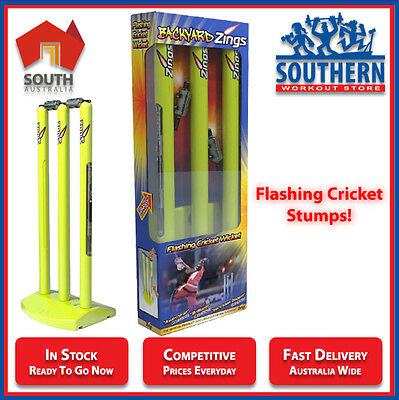 Cricket Stumps Backyard Zings Flashing LED Bails Wicket Sport Games Family Fun