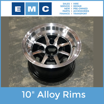 Rim, 10 Inch Alloy For Emc Electric Vehicles And Other Golf Cart Type Vehicles
