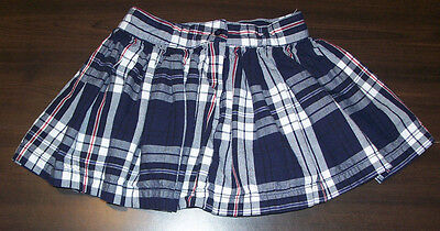 The Childrens Place Skort Girls Size 10 Stretch Plaid Scooter Skirt