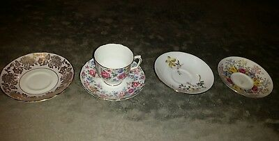 Crown Staffordshire Bone China Cups And Saucers