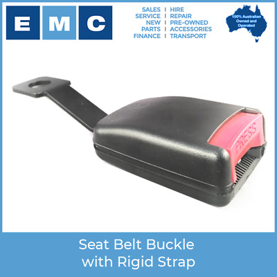 Seat Belt Buckle with Rigid Strap for Low Speed Vehicles