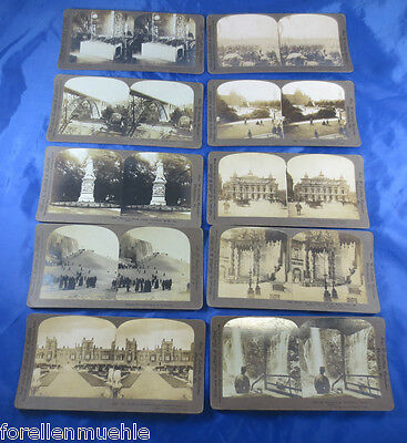 10x Uralt Stereobilder 1900 Japan Rom Paris Berlin London Bern St. Petersburg 3
