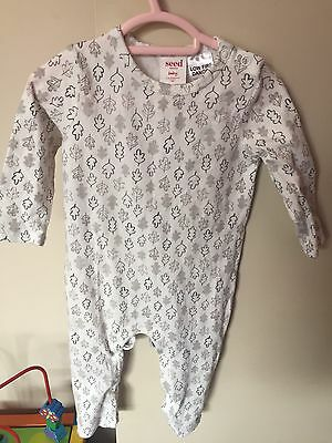 Seed Baby Boy Leaf Jumpsuit Size 3-6 Months 00 As New